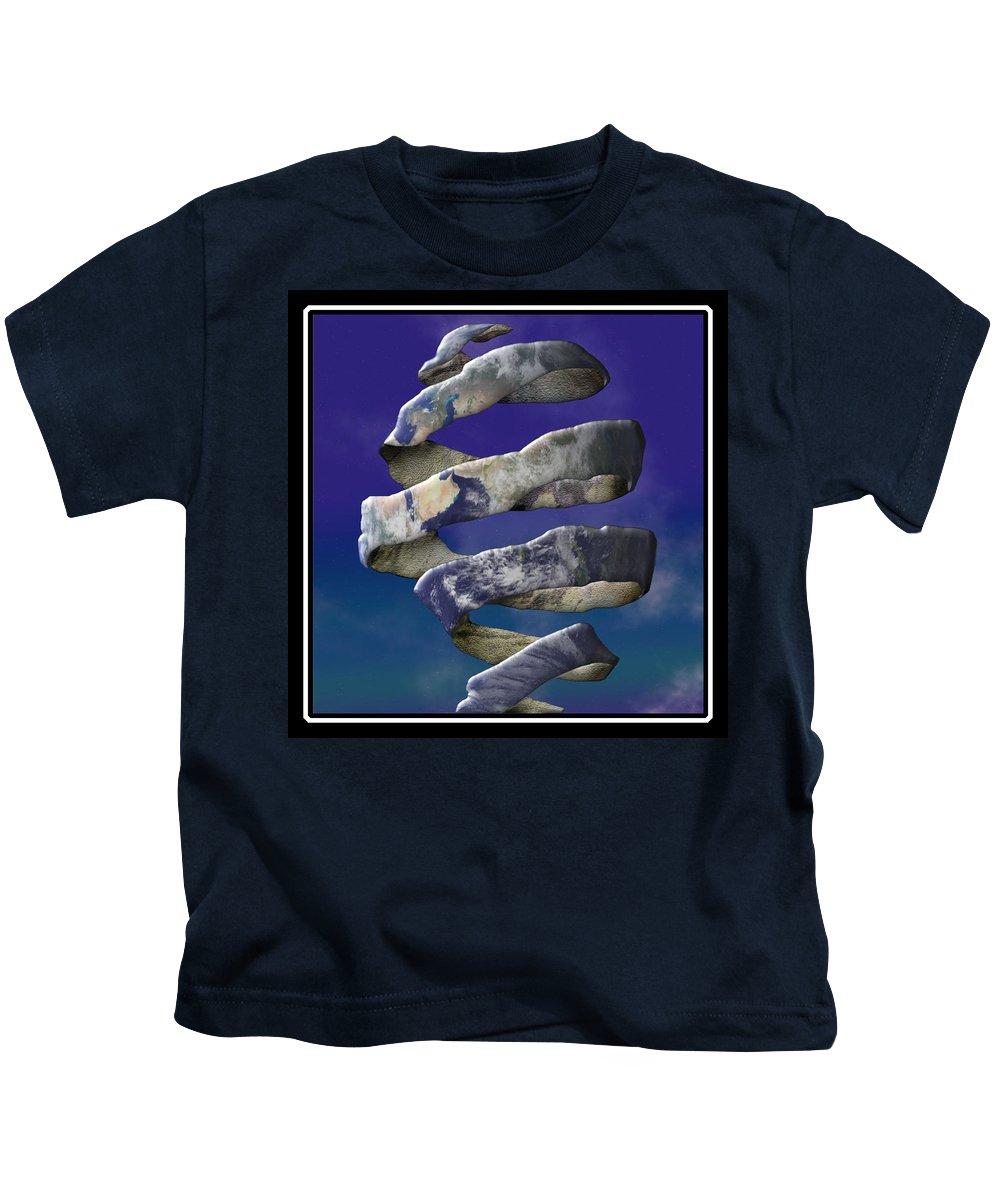 Escher Kids T-Shirt featuring the digital art My World Is Unraveling by Gravityx9 Designs