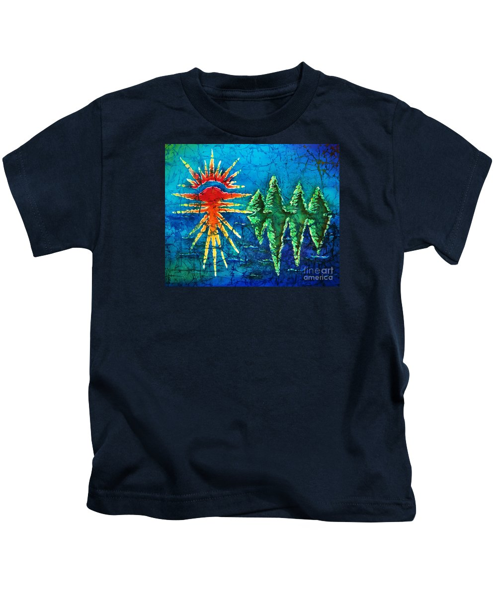 Trees Kids T-Shirt featuring the painting Nature by Sue Duda