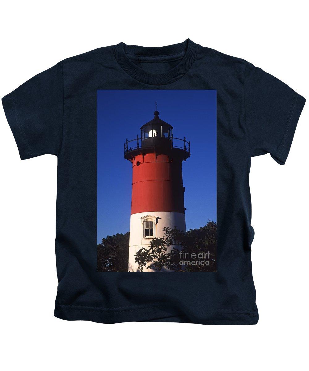 Cape Cod Kids T-Shirt featuring the photograph Nauset Light by John Greim