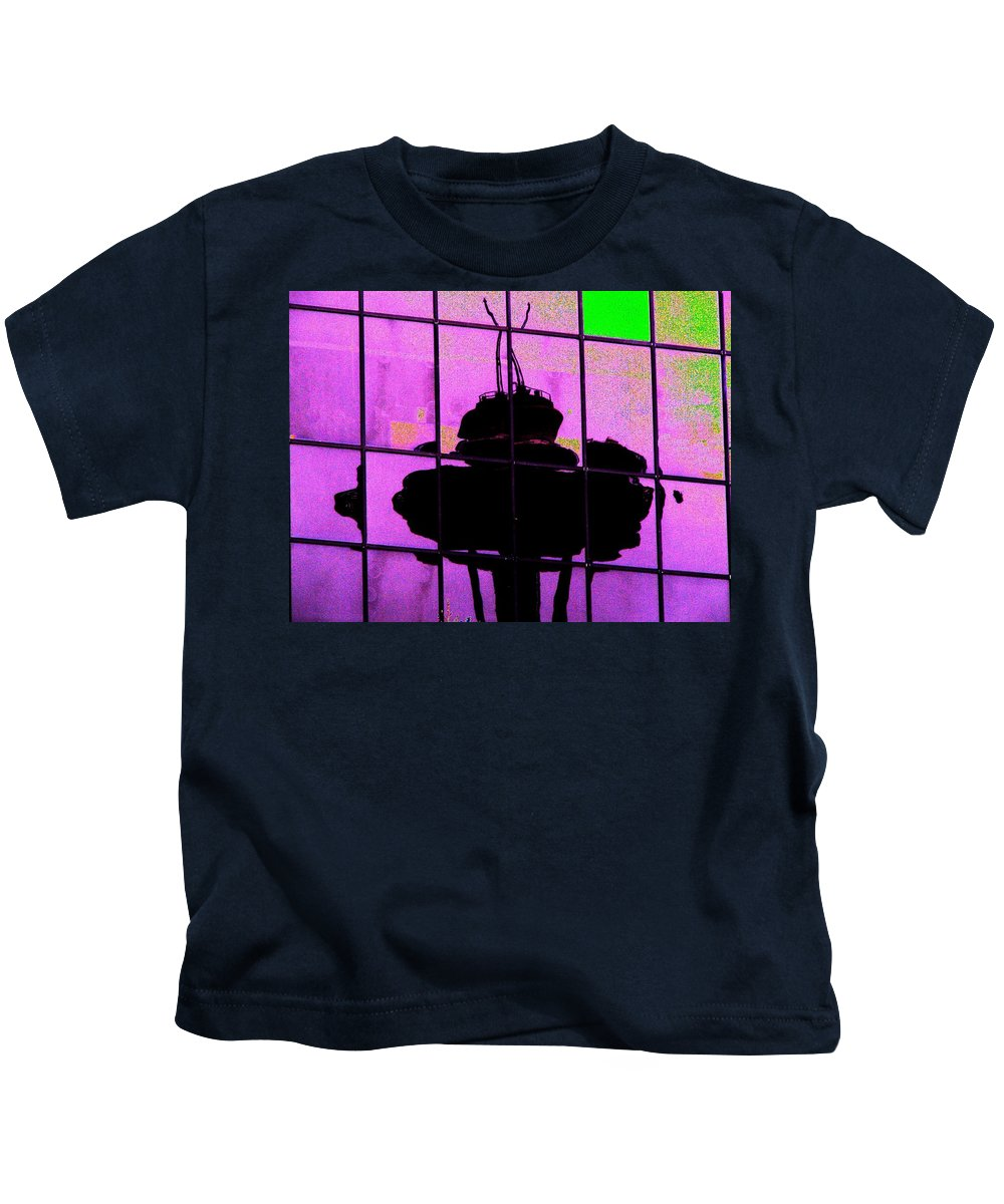 Seattle Kids T-Shirt featuring the digital art Needle Reflect 2 by Tim Allen