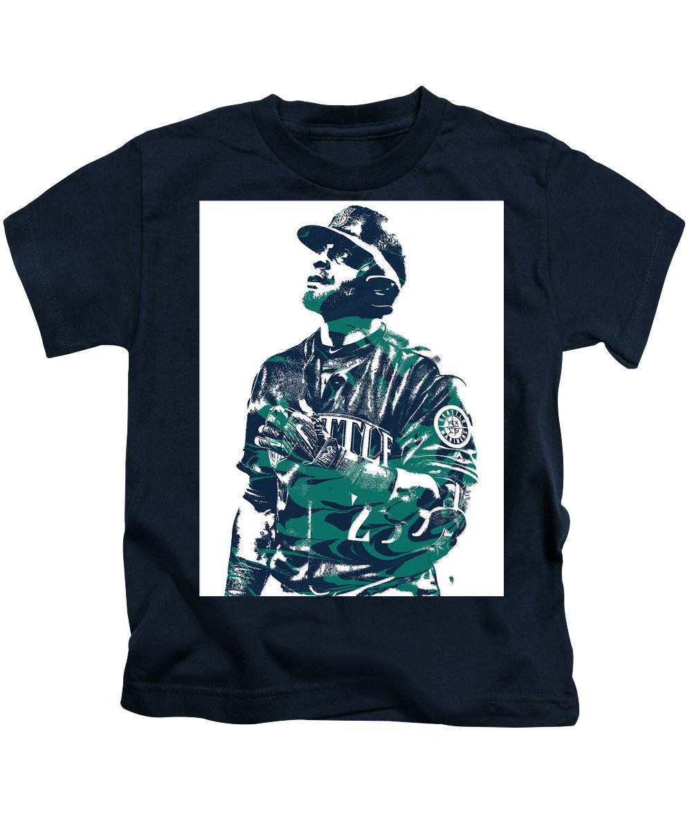 Nelson Cruz Seattle Mariners Pixel Art 4 Kids T-Shirt for Sale by ...