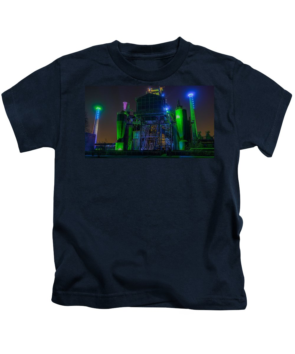 Neon Kids T-Shirt featuring the photograph Neon Color Machinery by Billy Soden
