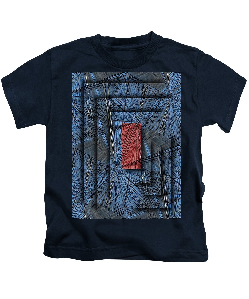 Abstract Kids T-Shirt featuring the digital art Networking by Tim Allen