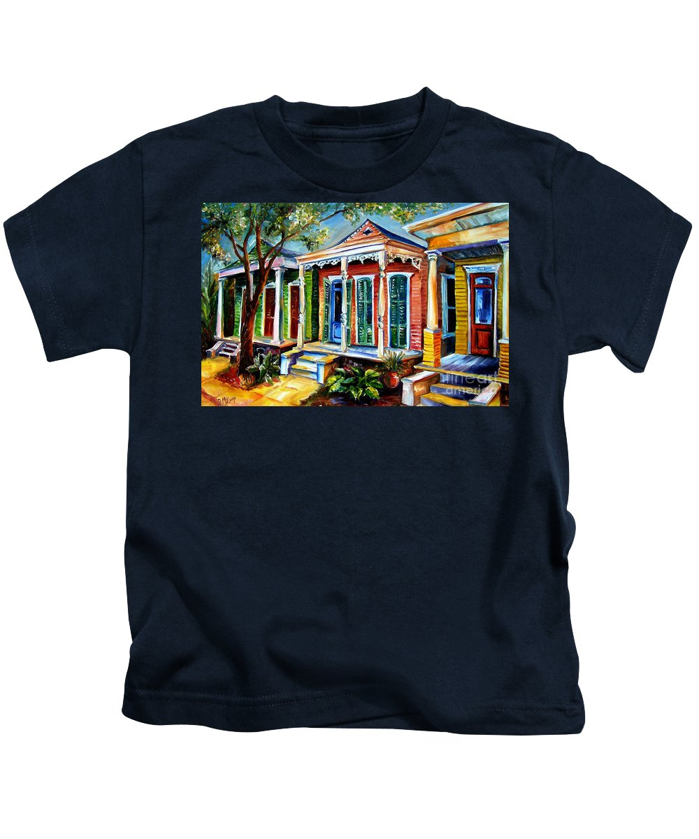 New Orleans Paintings Kids T-Shirt featuring the painting New Orleans Plain And Fancy by Diane Millsap
