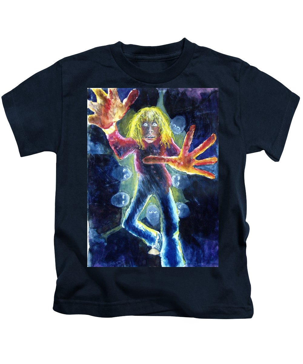 Nightmare Kids T-Shirt featuring the painting Nightmare by Nancy Mueller