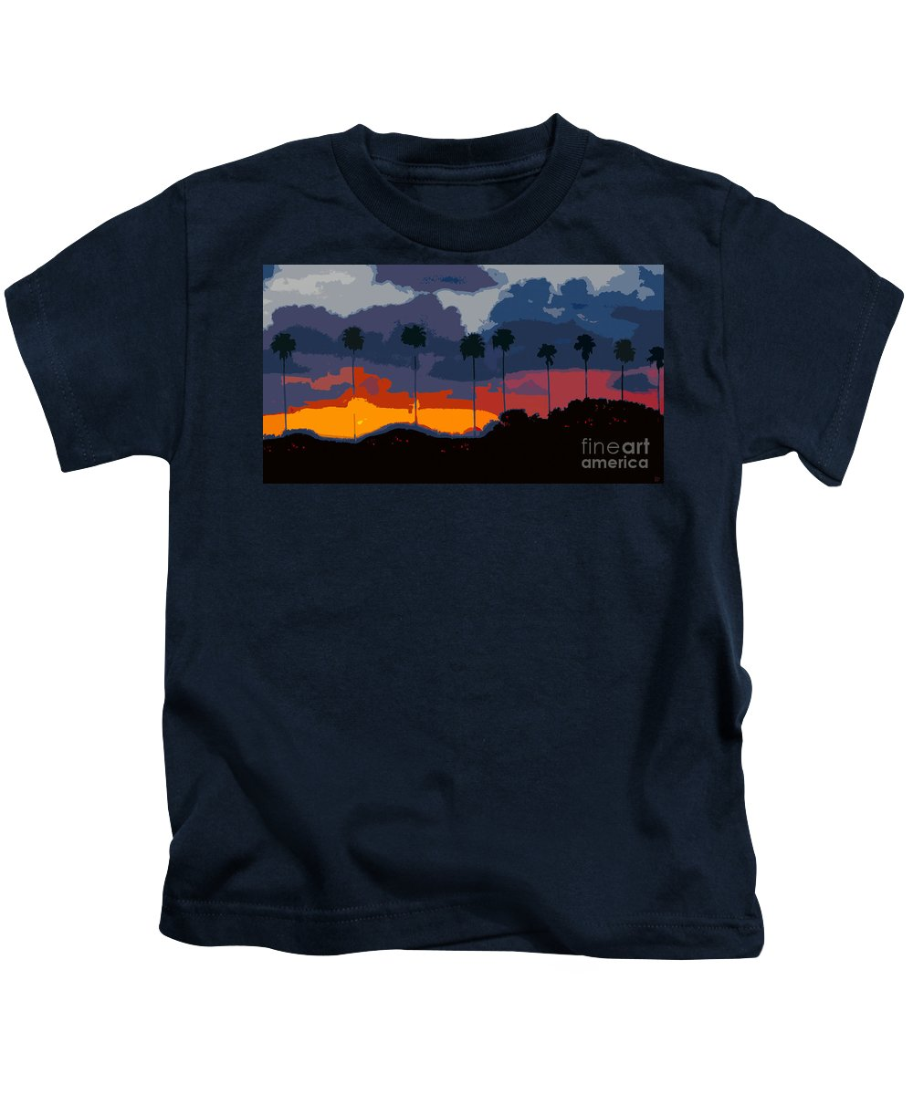 Palm Trees Kids T-Shirt featuring the painting Nine Palms by David Lee Thompson