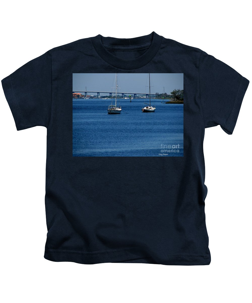 Patzer Kids T-Shirt featuring the photograph No Yard Work by Greg Patzer