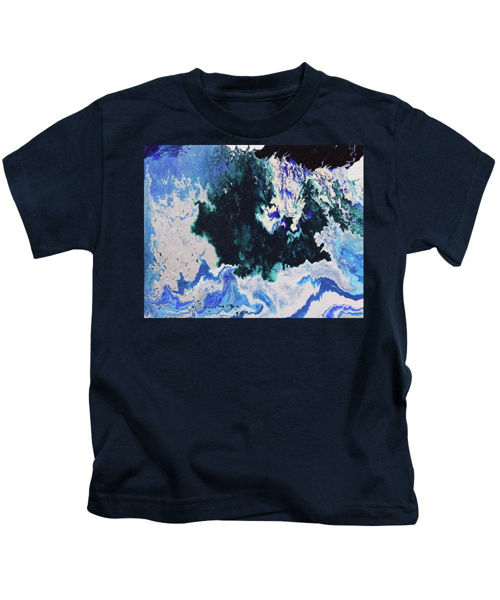Fusionart Kids T-Shirt featuring the painting North Shore by Ralph White