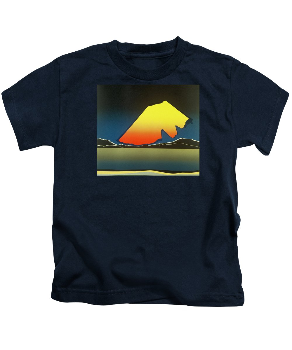 Landscape Kids T-Shirt featuring the mixed media Northern Light. by Jarle Rosseland