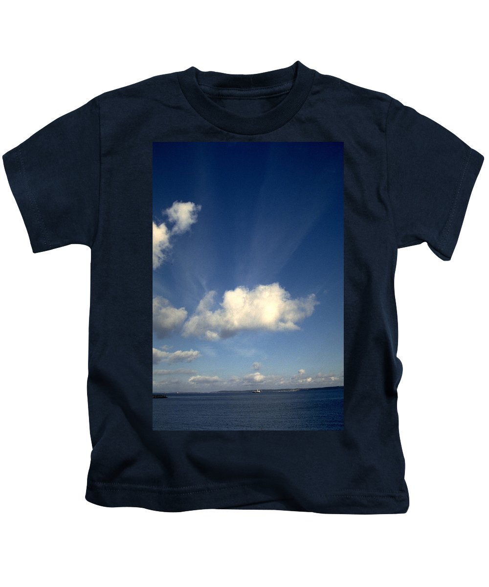 Northern Sky Kids T-Shirt featuring the photograph Northern Sky by Flavia Westerwelle