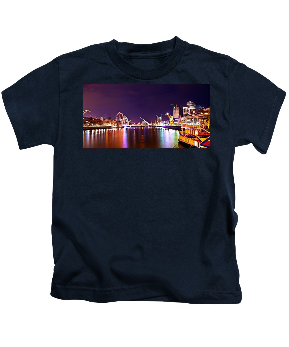 Buenos Kids T-Shirt featuring the photograph Nothing But Lights by Francisco Colon