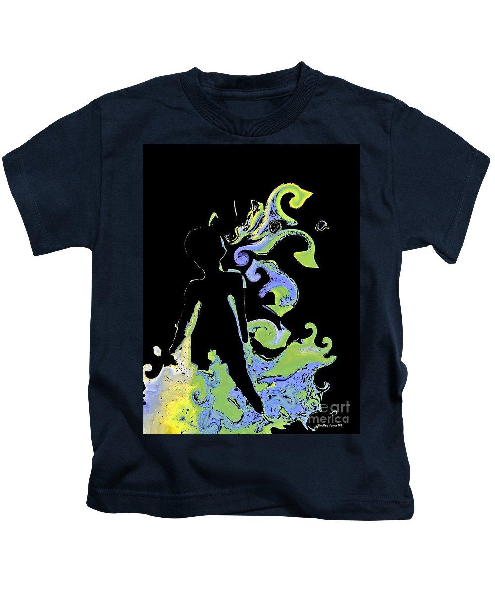 Ocean Kids T-Shirt featuring the digital art Ocean by Shelley Jones