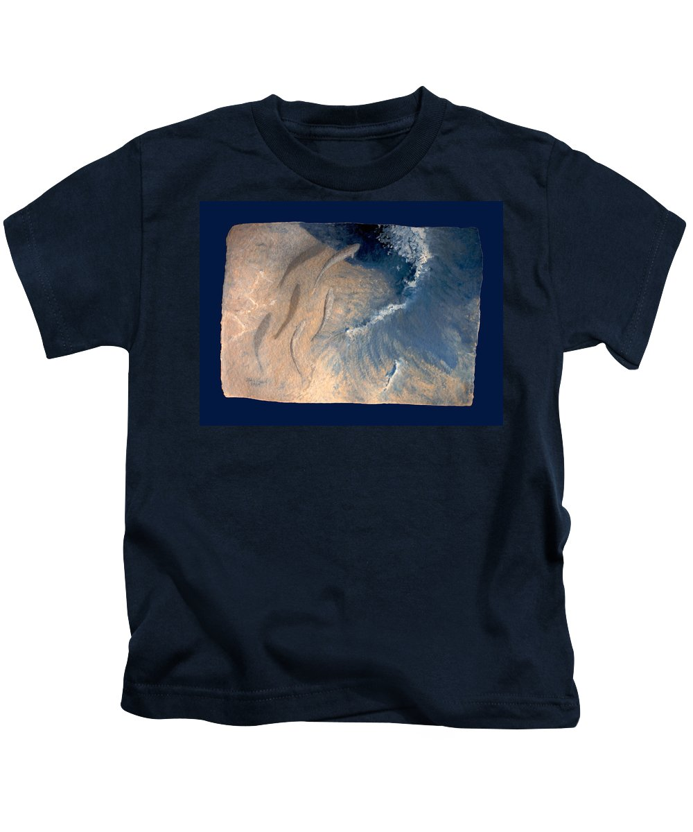 Seascape Kids T-Shirt featuring the painting Ocean by Steve Karol