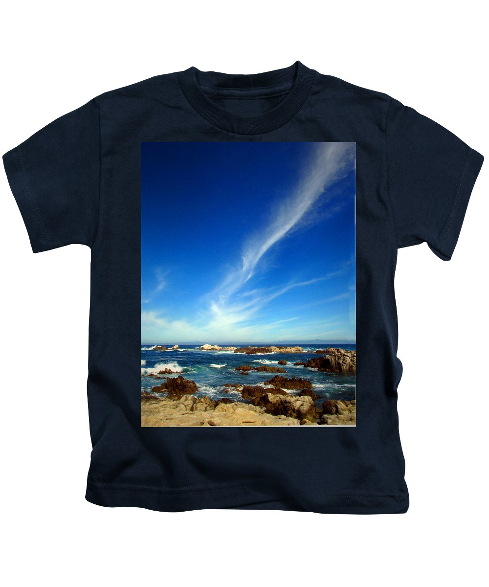 Seascape Kids T-Shirt featuring the photograph Oh The Beauty Monterey Peninsula Ca by Joyce Dickens
