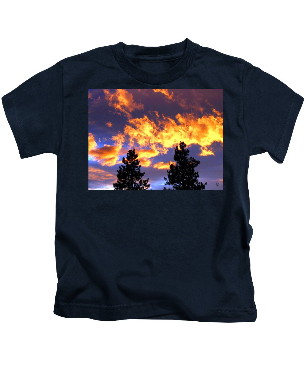 Sunset Kids T-Shirt featuring the photograph Okanagan Sunset by Will Borden