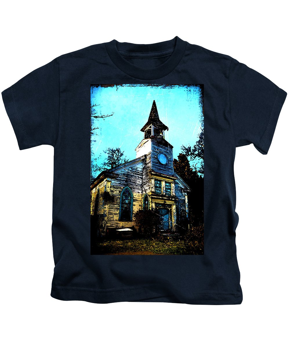 Church Kids T-Shirt featuring the photograph Old Church At Oxford Maryland by Bill Cannon