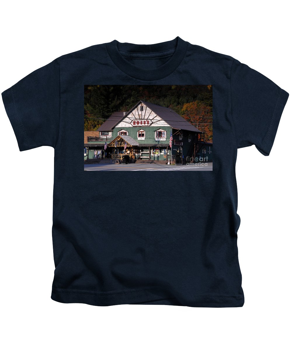 Old Store Kids T-Shirt featuring the photograph Old Hoss's by David Lee Thompson