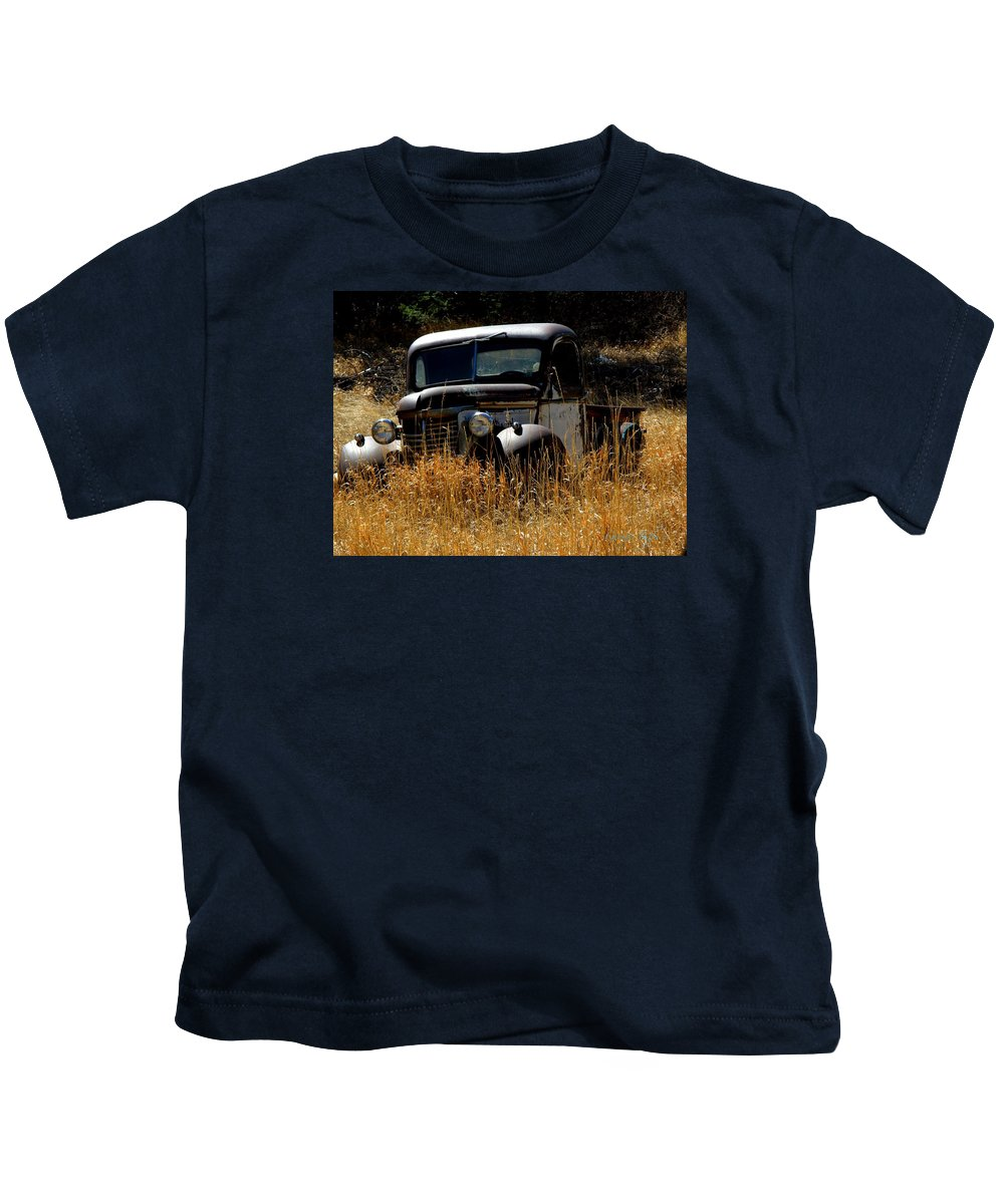 Old Pickup Truck Kids T-Shirt featuring the photograph Old Pickup Truck by George Tuffy