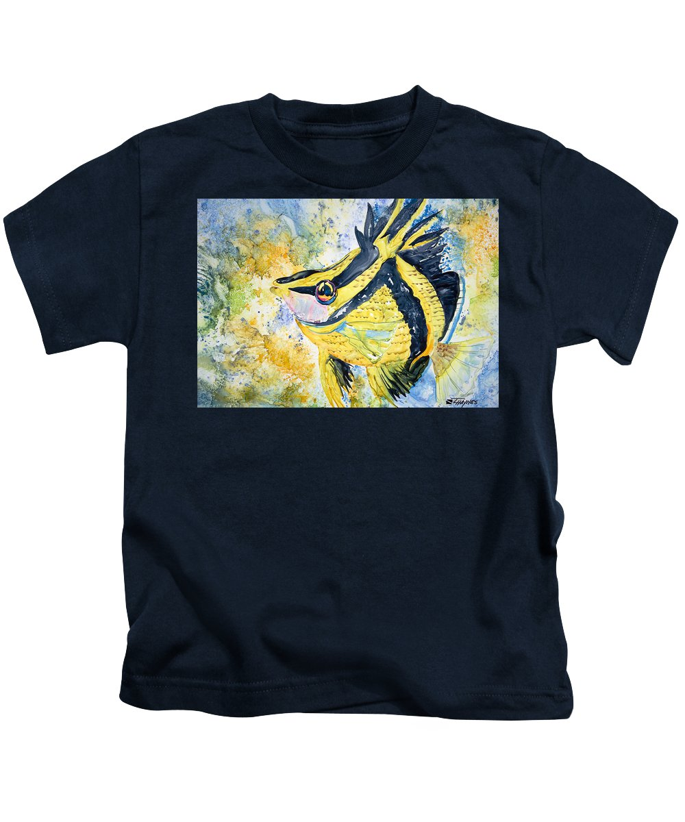 Animal Art Kids T-Shirt featuring the painting On Wings by Tanya L Haynes - Printscapes