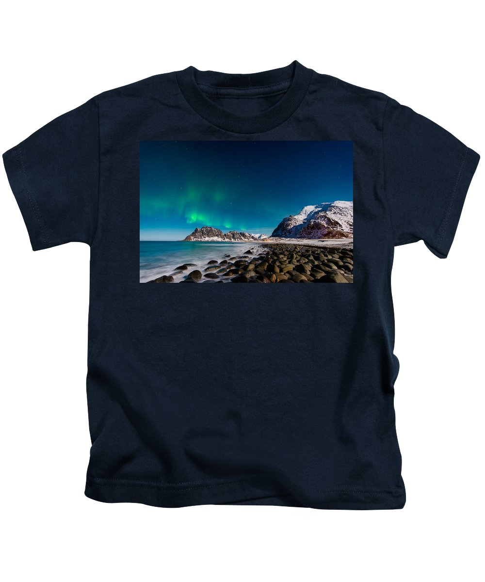 Aurora Kids T-Shirt featuring the photograph Orbs by Michael Blanchette