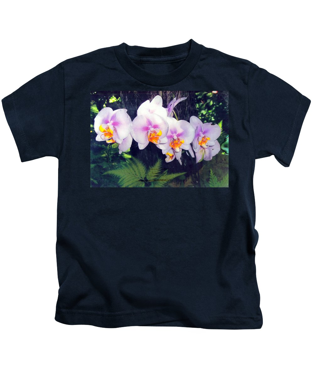 Orchids Kids T-Shirt featuring the photograph Orchids Of Hawaii by Dina Holland