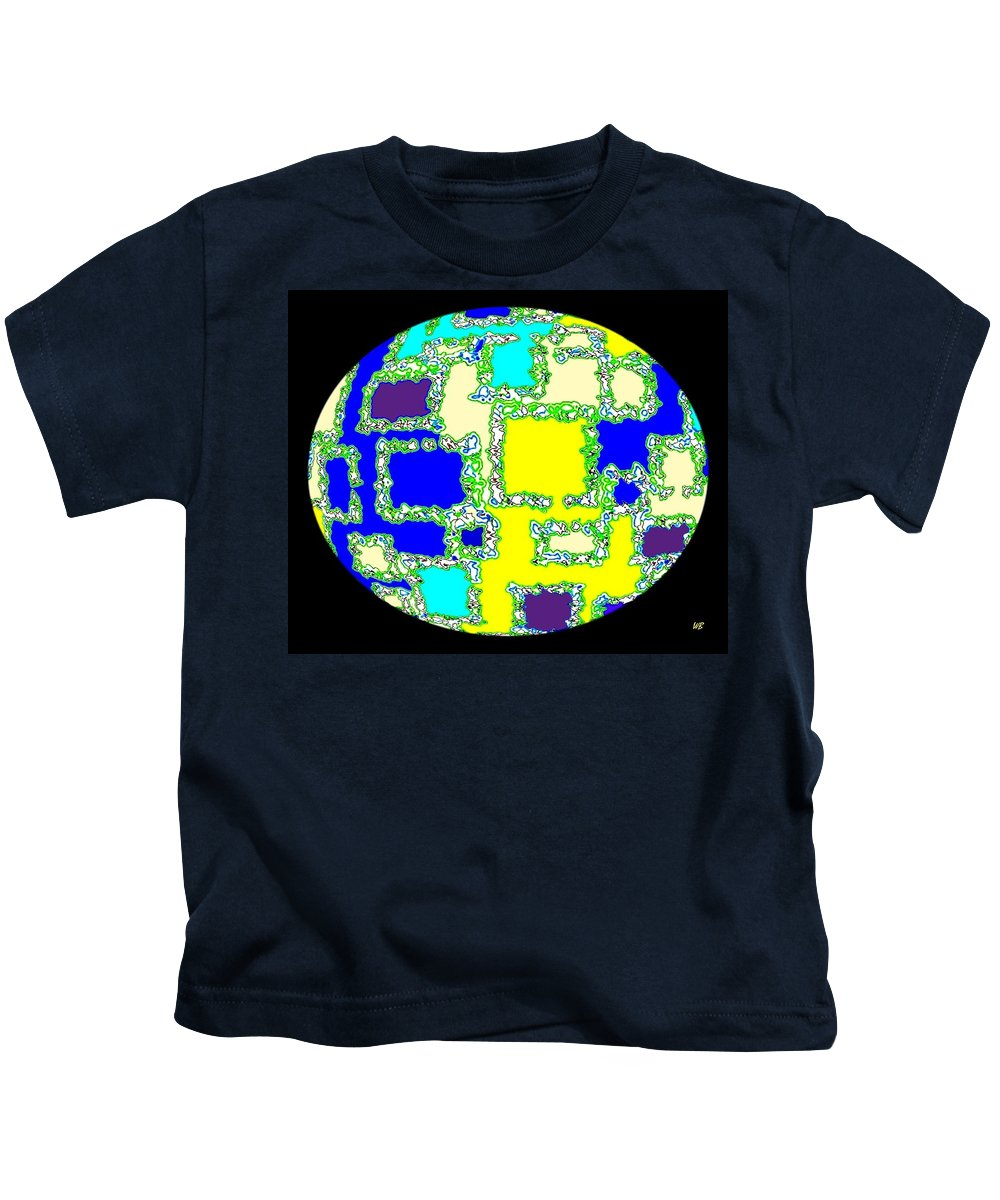 Abstract Kids T-Shirt featuring the digital art Ostrich Egg by Will Borden