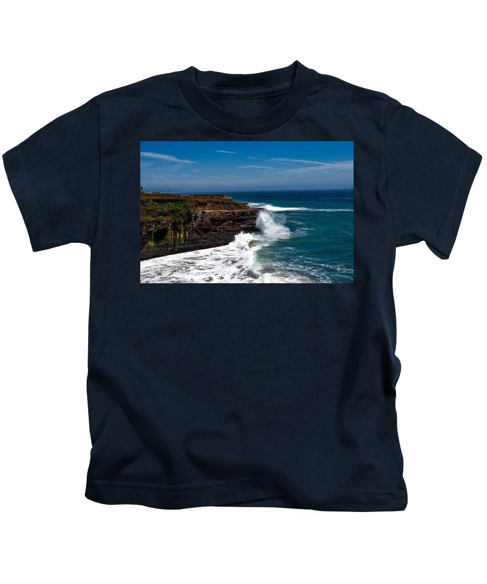 Pacific Kids T-Shirt featuring the photograph Pacific Coastline by Mountain Dreams