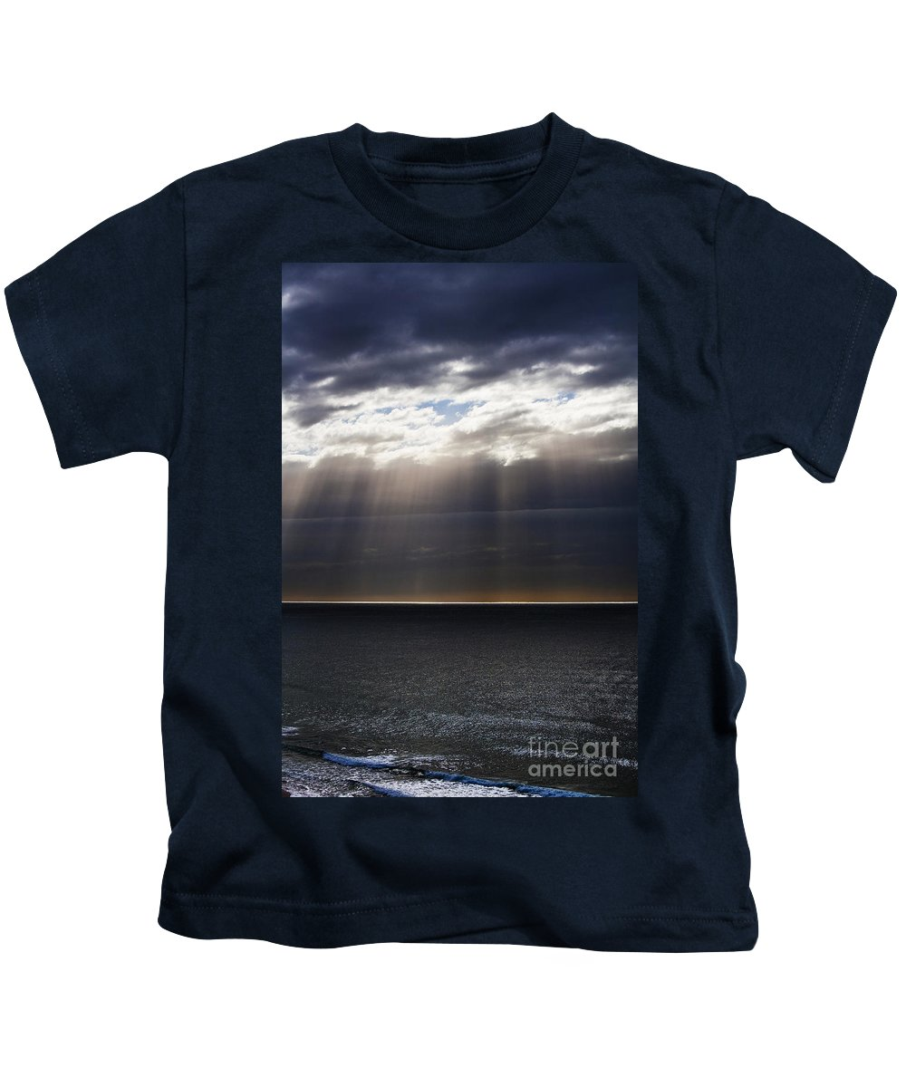 Kids T-Shirt featuring the photograph Pacific Storm by Sheila Smart Fine Art Photography