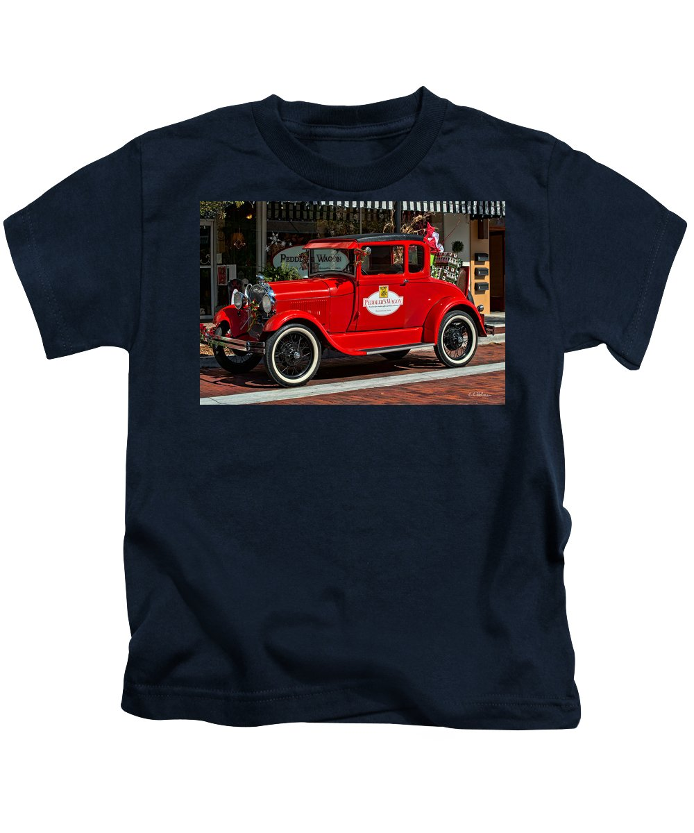 Christmas Kids T-Shirt featuring the photograph Packed For Christmas by Christopher Holmes