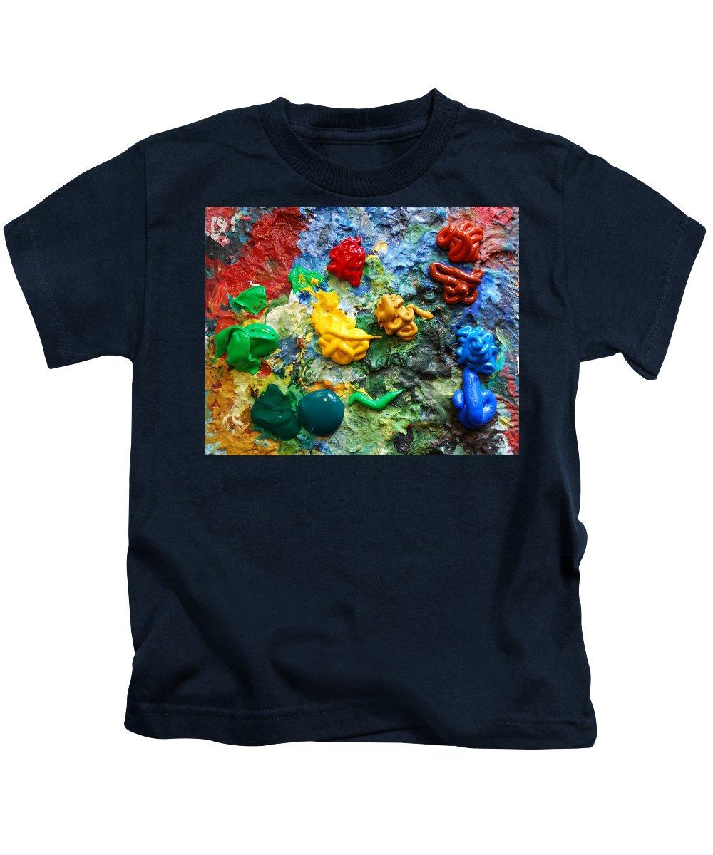 Palette Kids T-Shirt featuring the photograph Painters Palette by Nancy Mueller
