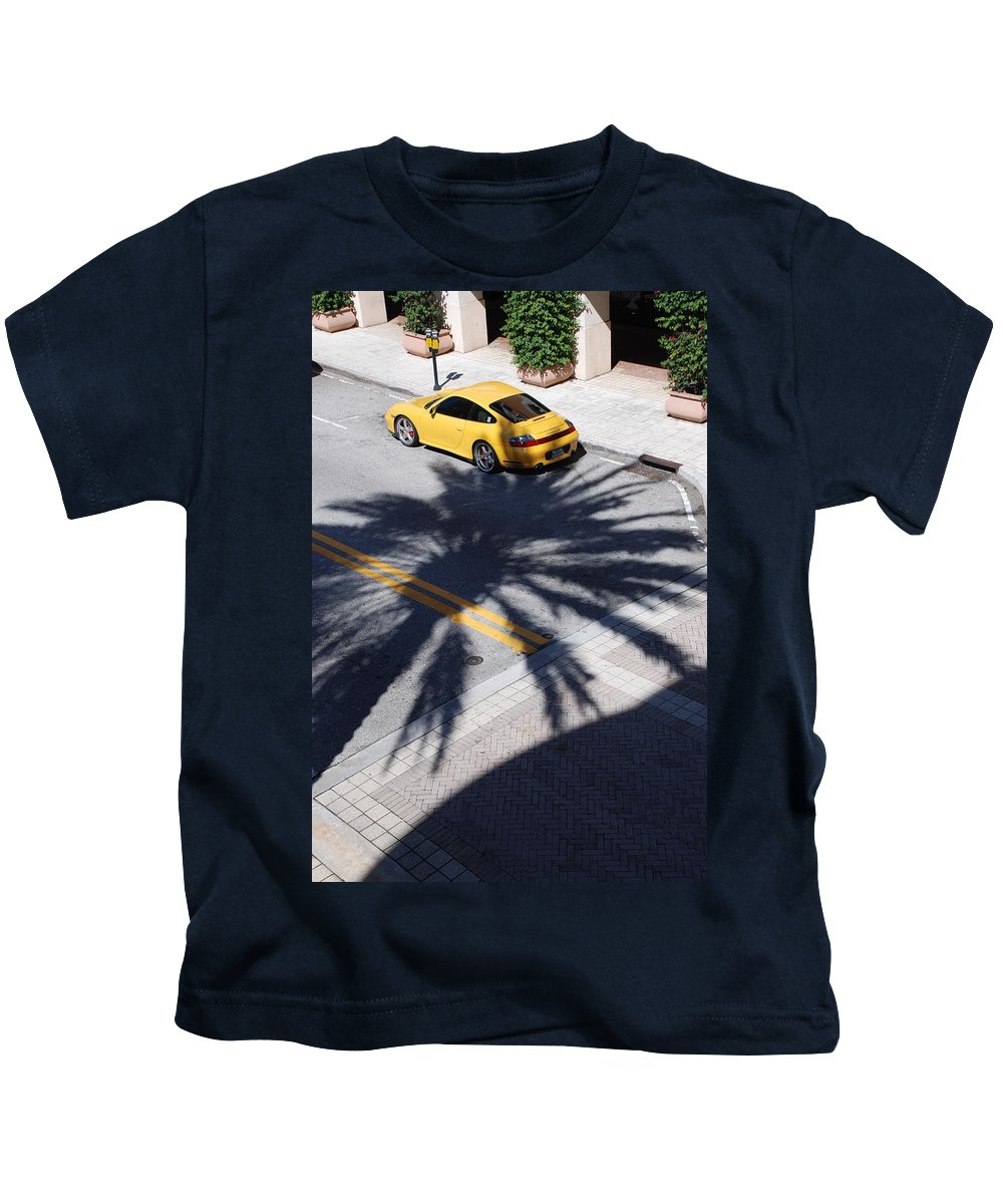 Porsche Kids T-Shirt featuring the photograph Palm Porsche by Rob Hans