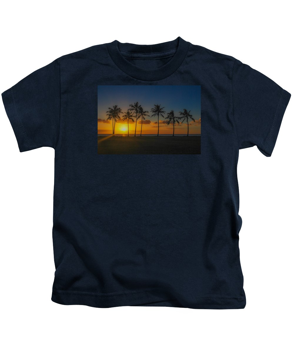 Maili Kids T-Shirt featuring the photograph Palm Tree Paradise by Megan Martens