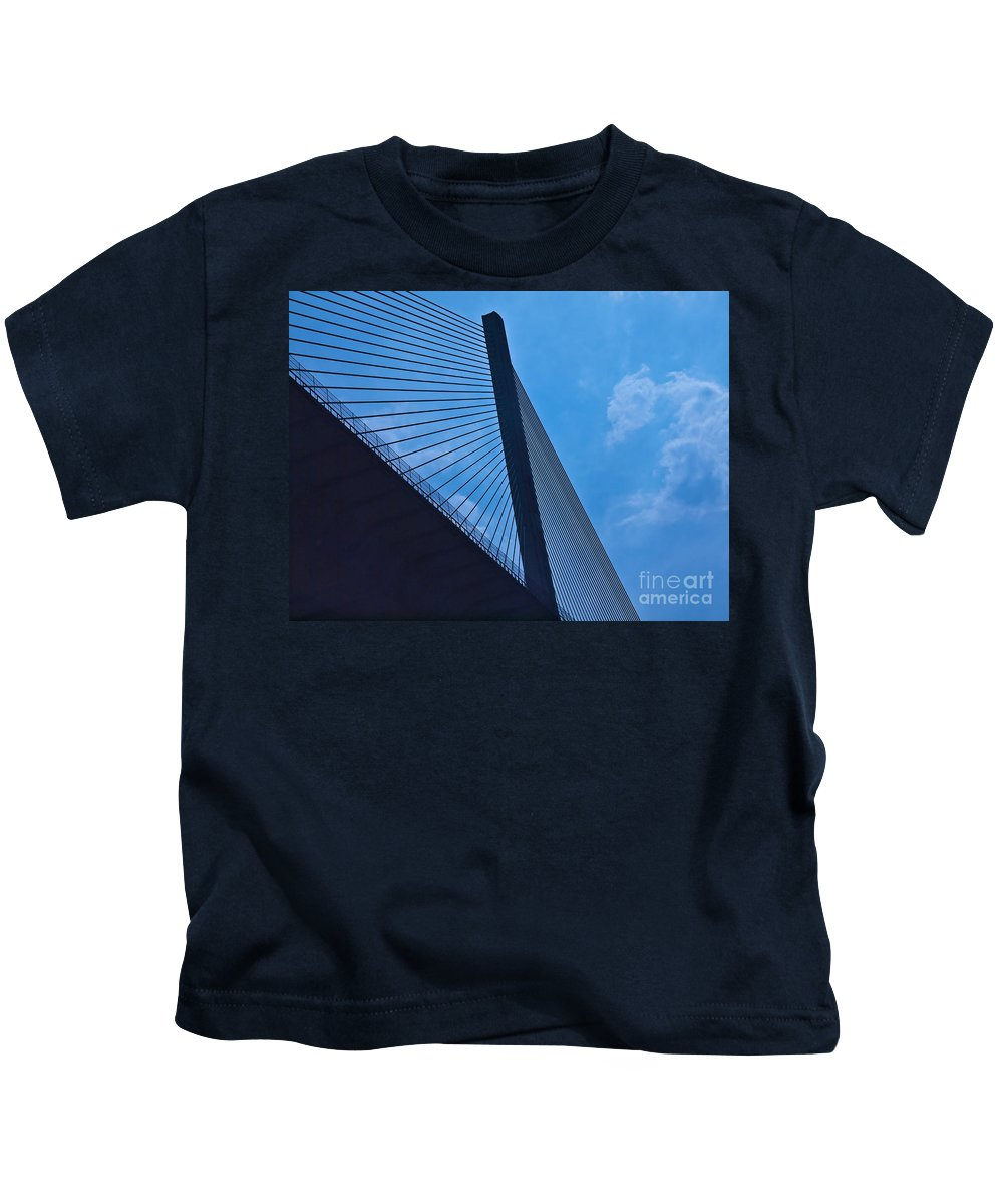 Bridge Kids T-Shirt featuring the photograph Panama073 by Howard Stapleton