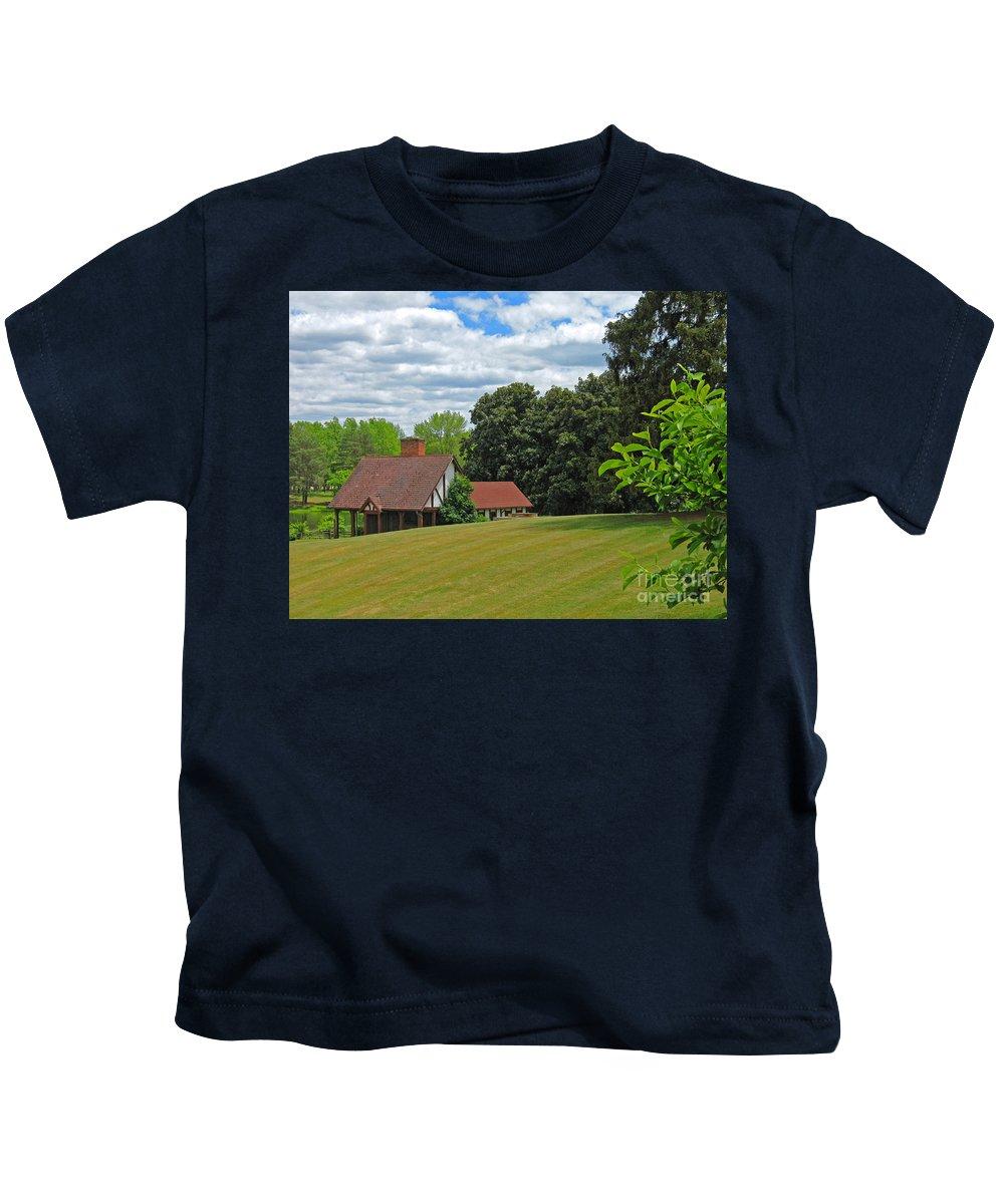Landscape Kids T-Shirt featuring the photograph Parkland Cottage by Ann Horn