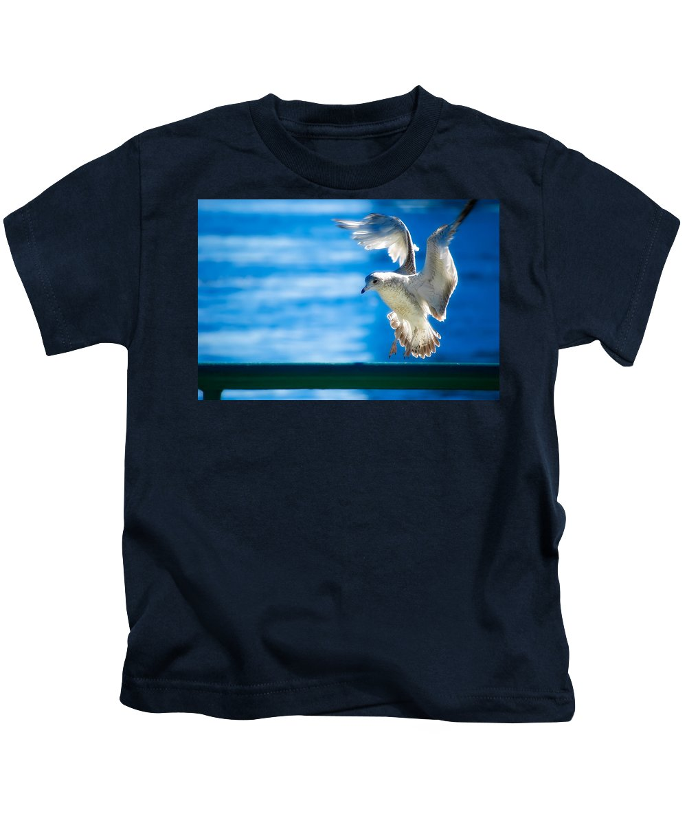 Animal Kids T-Shirt featuring the photograph Peace Gull by Rich Leighton