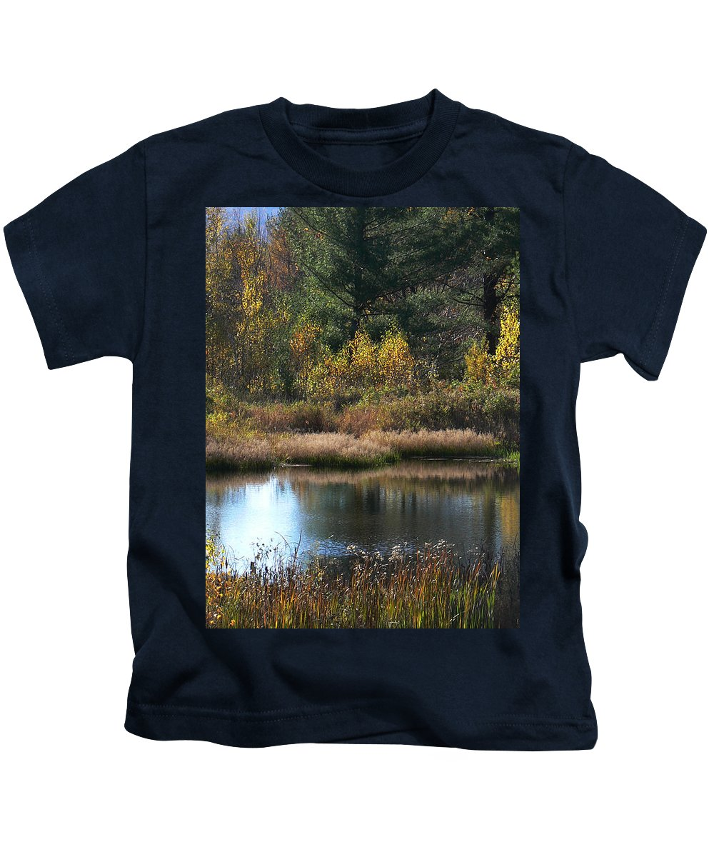 Pond On Mountain Kids T-Shirt featuring the photograph Peaceful Place by Natalie LaRocque