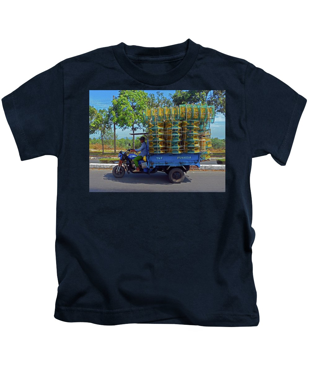 Phu My Kids T-Shirt featuring the photograph Phu My 5 by Ron Kandt
