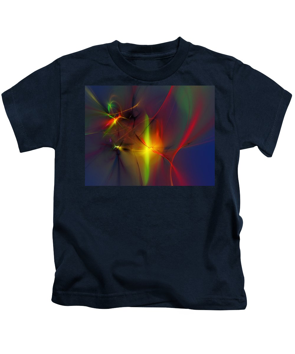 Digital Painting Kids T-Shirt featuring the digital art Pixie Dance by David Lane