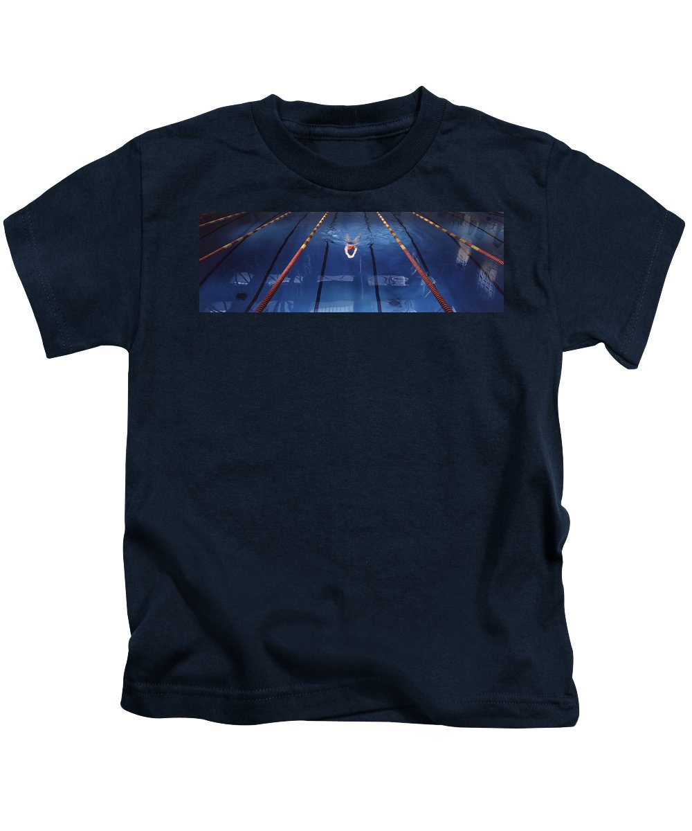 Pool Kids T-Shirt featuring the photograph Pool by Steve Williams