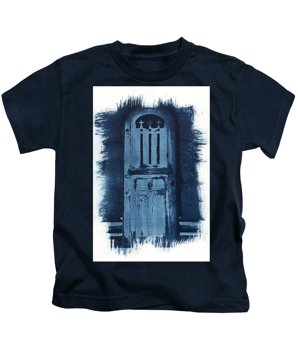 Cyanotype Kids T-Shirt featuring the photograph Portals by Jane Linders
