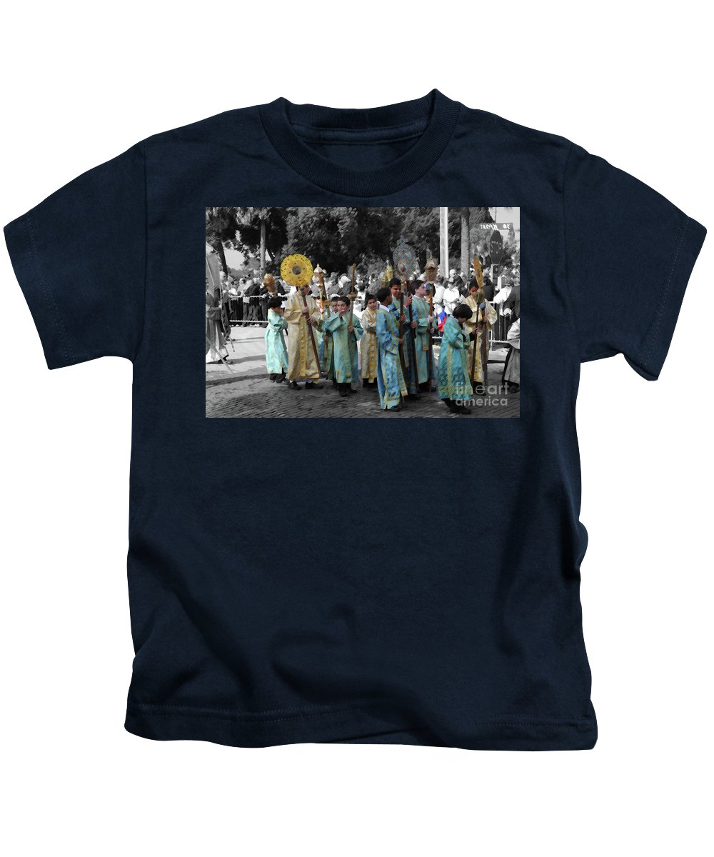 Greek Kids T-Shirt featuring the photograph Precession by Jost Houk