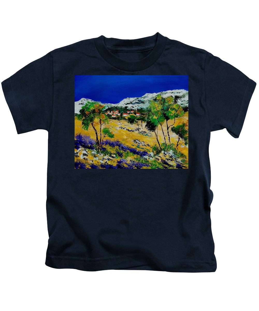 Provence Kids T-Shirt featuring the painting Provence 569060 by Pol Ledent