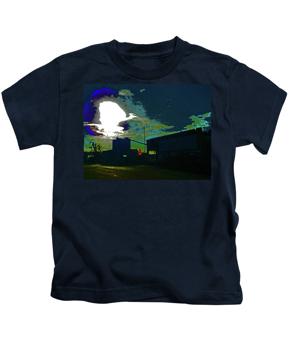 Abstract Kids T-Shirt featuring the photograph Pueblo Steel City-cfi 2-my Neighborhood by Lenore Senior