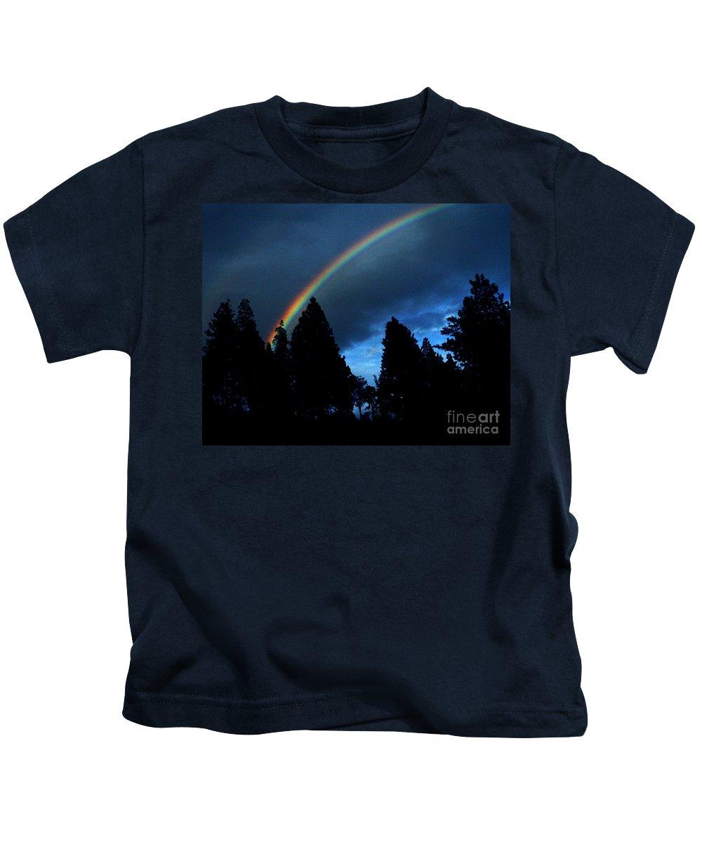 Rainbow Kids T-Shirt featuring the photograph Rainbow Sky by Peter Piatt