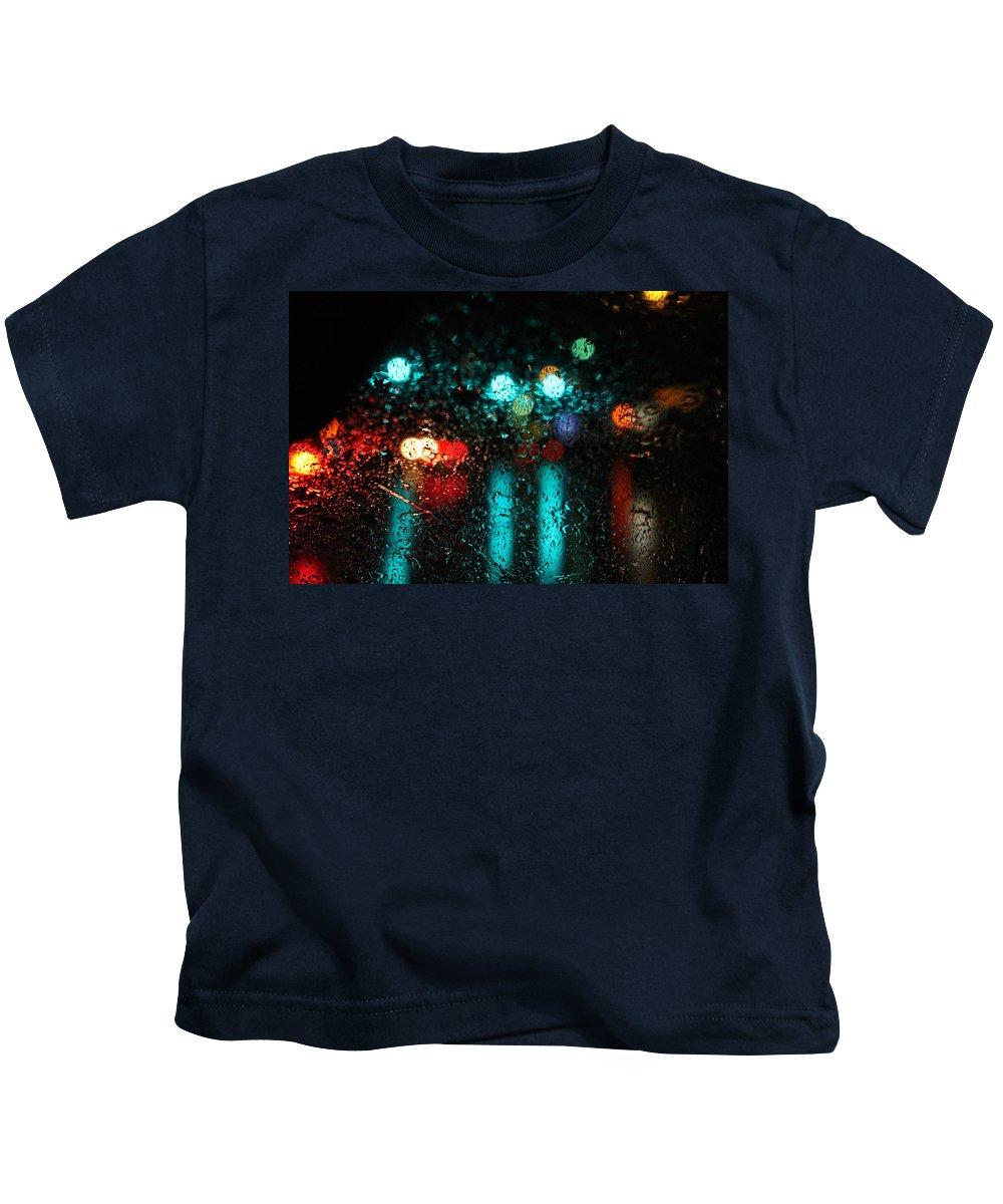 Rain Kids T-Shirt featuring the photograph Rainy Days by Hunter Kotlinski