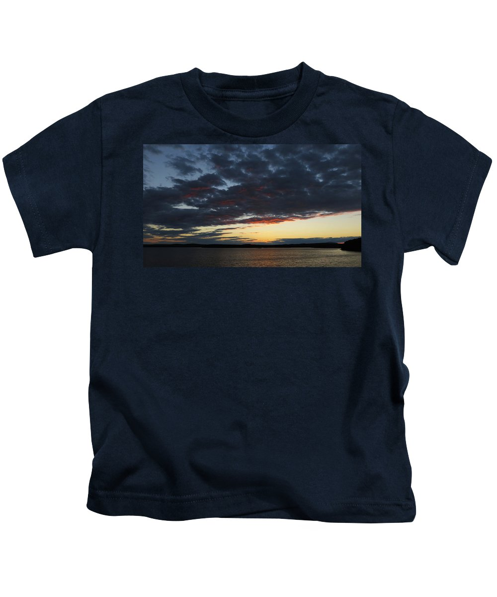 Vivid Sunset Kids T-Shirt featuring the photograph Red Glow by Ronald Raymond