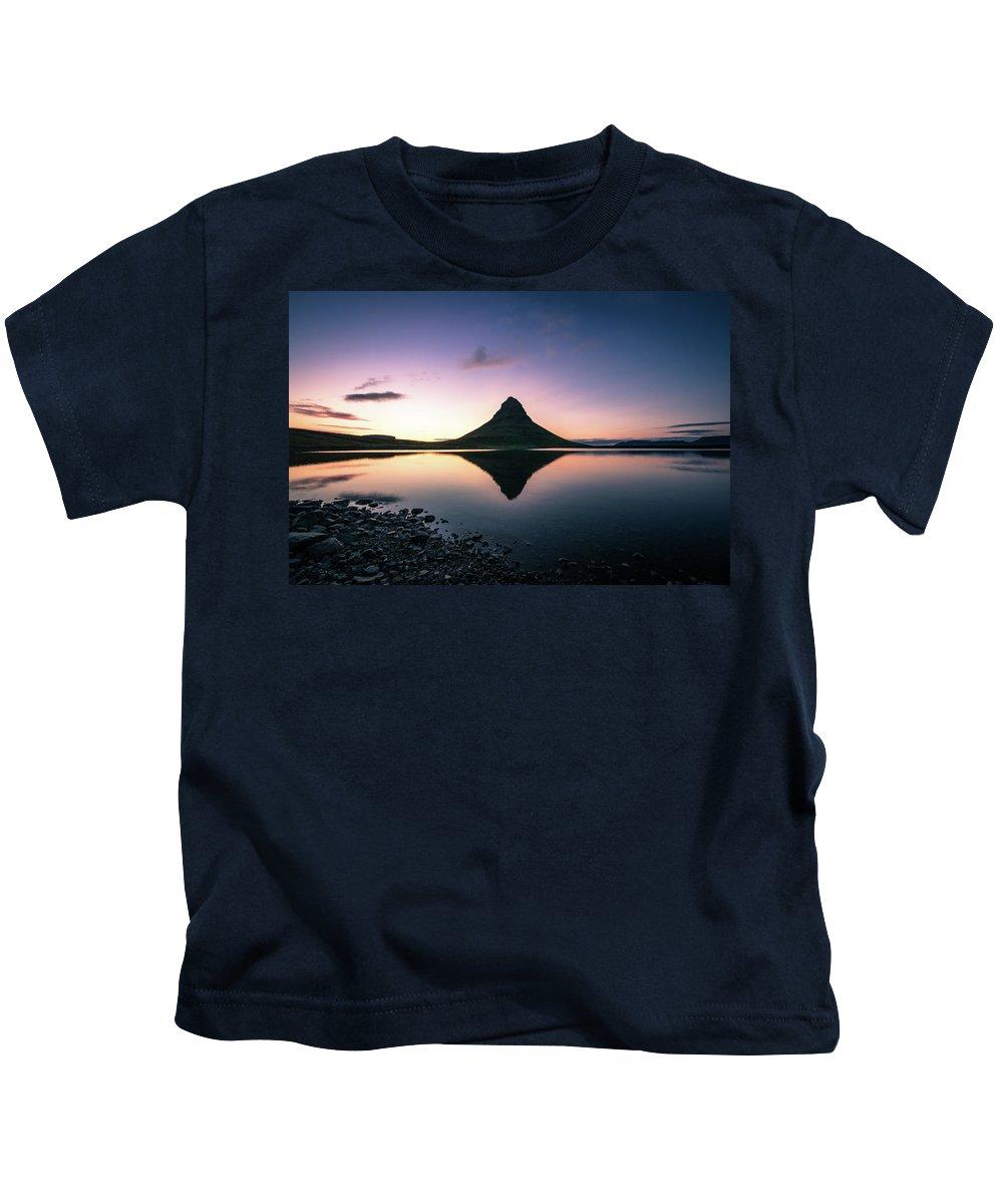 Landscape Kids T-Shirt featuring the photograph Reflection by Siddhartha De