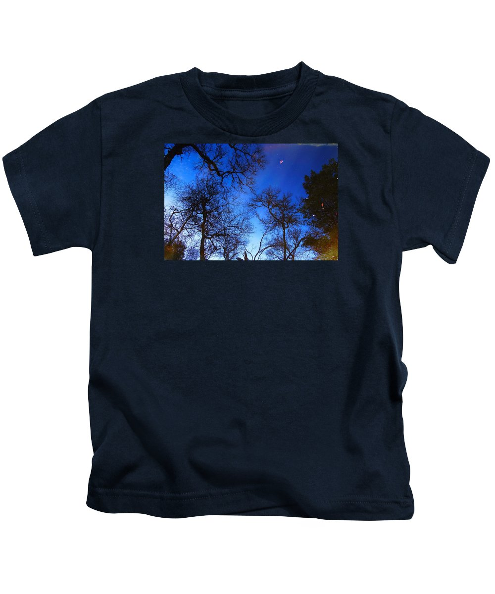 Pond Kids T-Shirt featuring the photograph Reflections Of Winter by Dennis Nelson