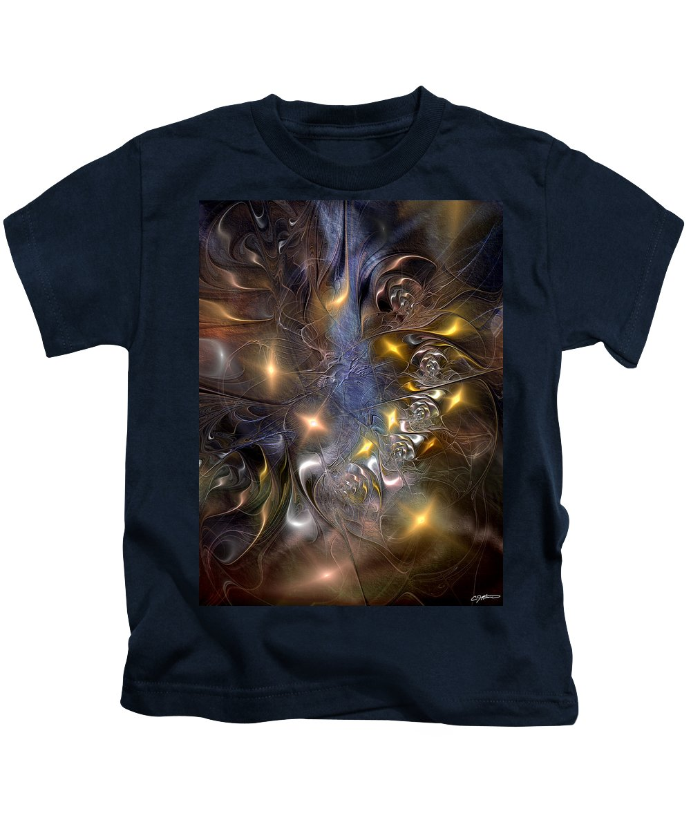Abstract Kids T-Shirt featuring the digital art Restricting The Flow Of Insignificance by Casey Kotas