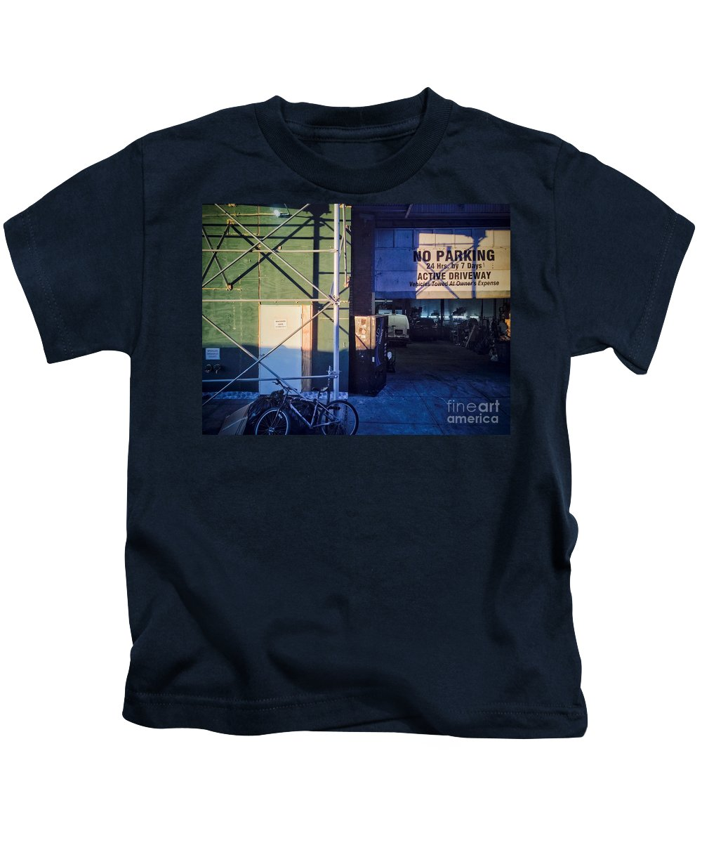 Parking Kids T-Shirt featuring the photograph Risky Business by Angelo Merluccio